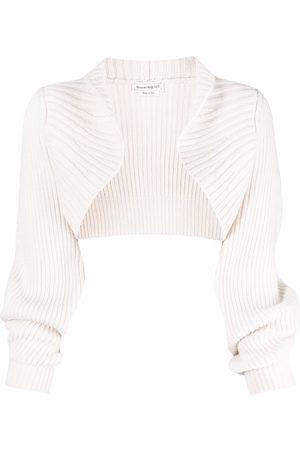 Alexander McQueen Women Boleros - Ribbed cashmere bolero