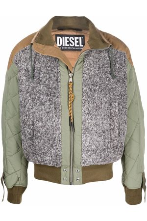 Diesel Men Bomber Jackets - Colour-block bomber jacket