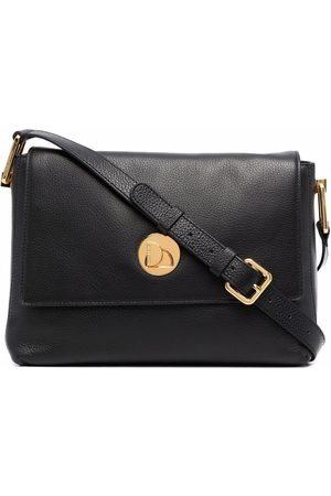 Coccinelle Women Shoulder Bags - Logo-engraved leather shoulder bag