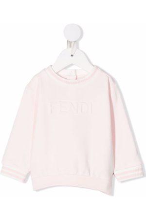 Fendi Logo-print crew neck sweatshirt