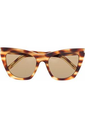 Saint Laurent Women Sunglasses - Tortoise-shell cat-eye sunglasses