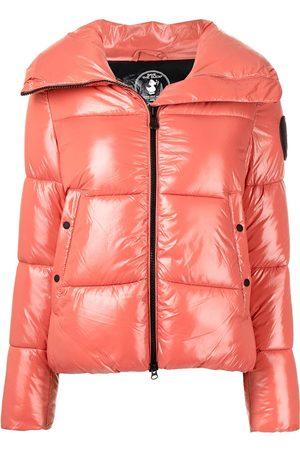 save the duck Women Puffer Jackets - Logo patch puffer jacket