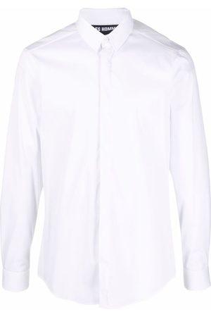 Les Hommes Logo-print long-sleeved shirt