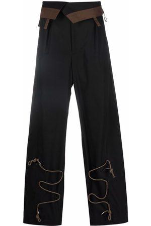 Jacquemus Lace-detail wide-leg trousers
