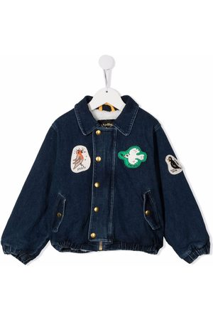 Mini Rodini Patch-detail denim jacket