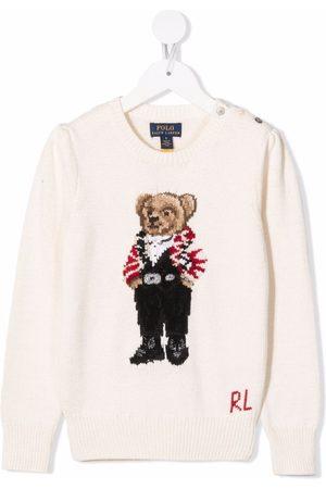 Ralph Lauren Polo Bear knitted jumper - Neutrals