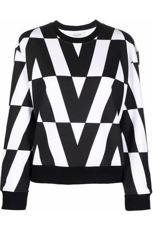 VALENTINO Women Sweatshirts - V logo-print sweatshirt