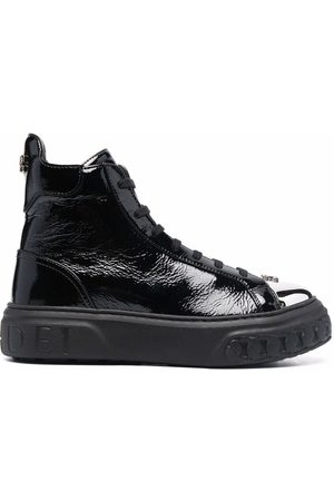 Casadei Metallic toe-cap sneakers