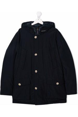 Woolrich Teen navy rain coat