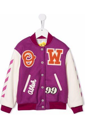 OFF-WHITE Patch varsity bomber jacket