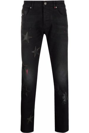 John Richmond Star-patches detailed jeans