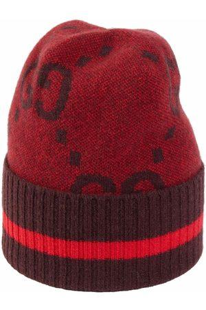 Gucci Men Hats - Intarsia-knit logo hat