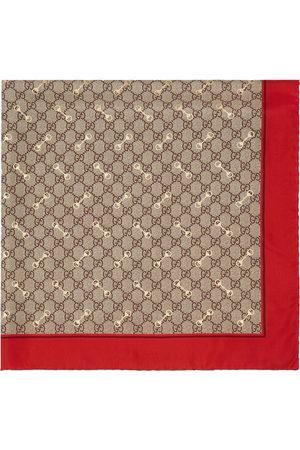 Gucci GG Horsebit silk scarf - Neutrals