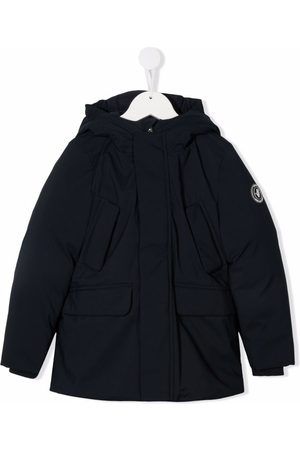 save the duck Logo-patch hooded padded jacket