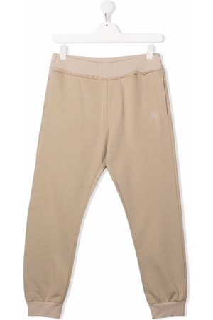 Paolo Pecora Sweatpants - Embroidered-logo track pants - Neutrals