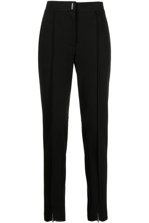 Givenchy Women Skinny Pants - Logo-plaque skinny-cut trousers