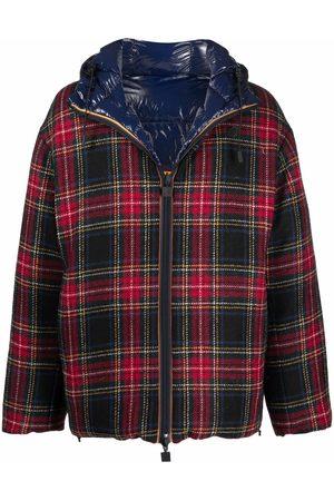 K-WAY R&D Men Coats - Tartan-print hooded coat