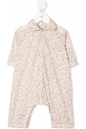 BONPOINT Baby Rompers - Ditsy-print cotton romper - Neutrals