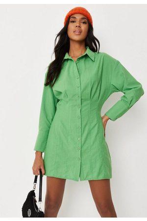 Missguided Women Casual Dresses - Pleat Waist Shirt Mini Dress