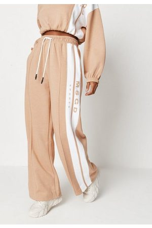 Missguided Women Loungewear - Co Ord Msgd Sports Seam Detail Wide Leg Joggers