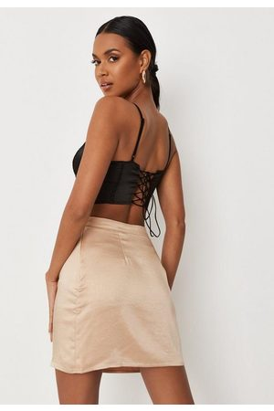 Missguided Women Camisoles - Satin Tie Back Cami Corset Top
