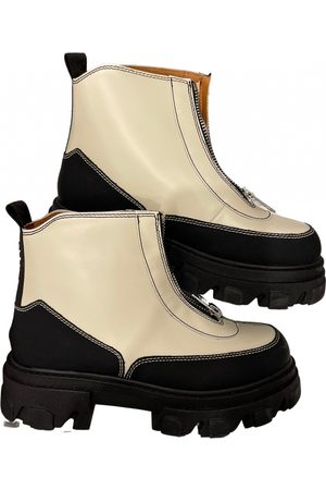 Ganni Fall Winter 2019 leather ankle boots