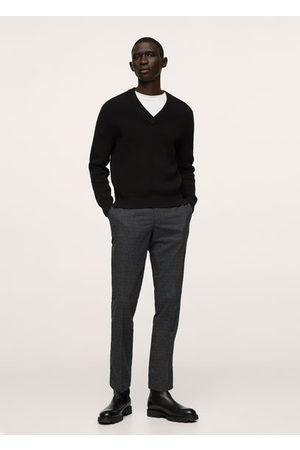 MANGO Structured V-neck sweater