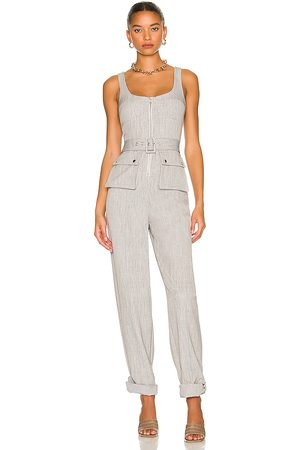 Lovers and Friends August Jumpsuit in Light Grey.