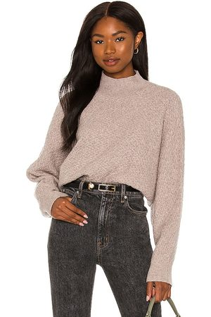Steve Madden Wing The Alarm Sweater in Taupe.