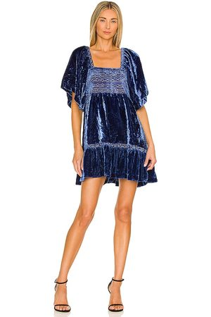 Free People Easy To Love Mini Dress in Royal.