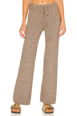 MONROW Marled Lounge Pant in Taupe.