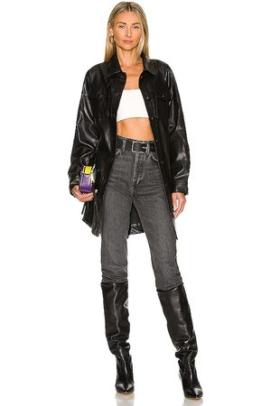 LINE & DOT Mika Faux Leather Shacket in .