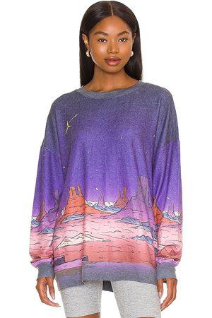 Wild Fox Johnny Rocket Roadtrip Sweatshirt in Purple.