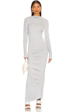The Line By K Asher Dress in Light Grey.