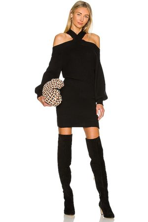LINE & DOT Ariana Cold Shoulder Sweater Dress in .