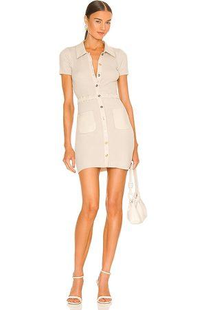 Sau Lee Hadley Knit Mini Dress in Neutral.