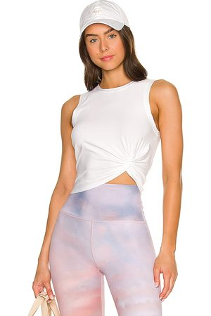 Beyond Yoga Front Twist Muscle Tank in .