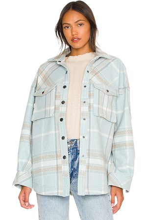 Free People Cabin Cozy Button Down in Baby .
