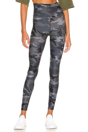 Beyond Yoga Spacedye Caught in the Midi Printed High Waisted Legging in Grey.