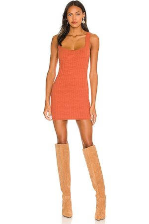 Free People Short And Sweet Mini Dress in Coral.