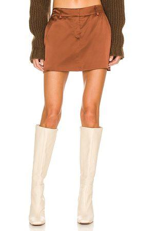Amanda Uprichard Brooklyn Skirt in Cognac.