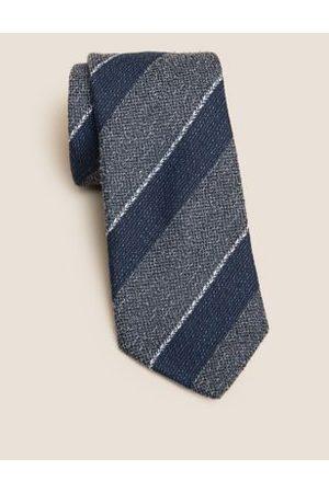 Marks & Spencer Men Neckties - Slim Textured Striped Tie