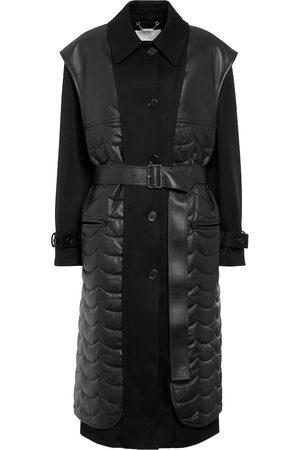 Chloé Wool gabardine and leather coat