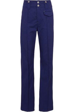Isabel Marant Dilirok high-rise straight cotton pants
