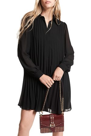 Michael Kors Pleated Mini Shirt Dress