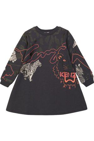 Kenzo Camouflage cotton-blend sweatshirt dress
