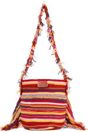 Chloé Jorge striped cashmere-blend bucket bag