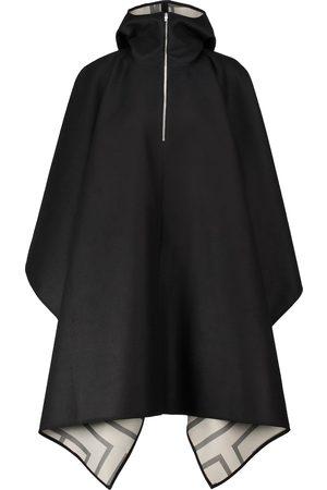 Totême Hooded asymmetric wool poncho