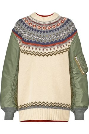 JUNYA WATANABE Nylon and wool knitted sweater