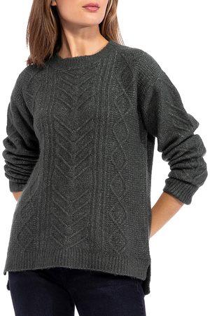 Bobeau Cable Knit Tunic Sweater